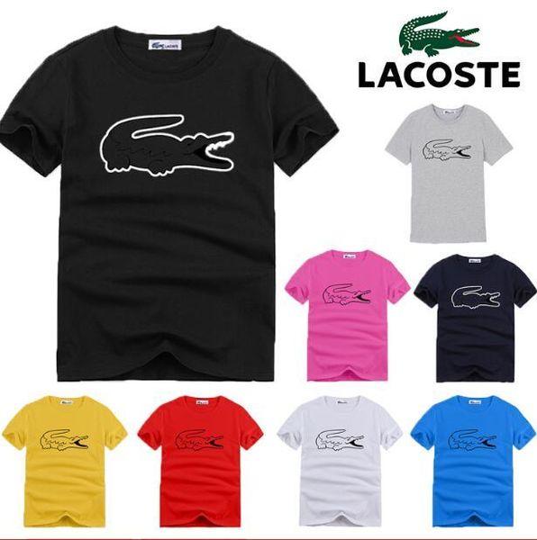 Homens famoso designer da marca Verão amante Carta Cartton Imprimir Red t -Shirts Casual em torno do pescoço manga curta chefes de Hip Hop t-shirt dos homens de hugo