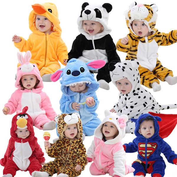 Bebek Kız Giysileri Unicorn Tulum Yeni Doğan Erkek Bebek Pijama Kış Hayvan Pijama Macacao Bebe Panda Mameluco Bebe Unicornio MX190801