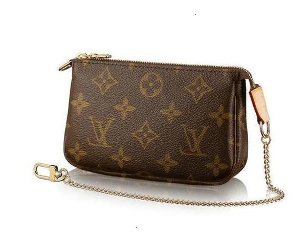 Mini Pochette Accessoires M58009 Nuovo Donne Sfilate di moda Borse pelle esotica Borse iconici catena pochette da sera borsa dei raccoglitori