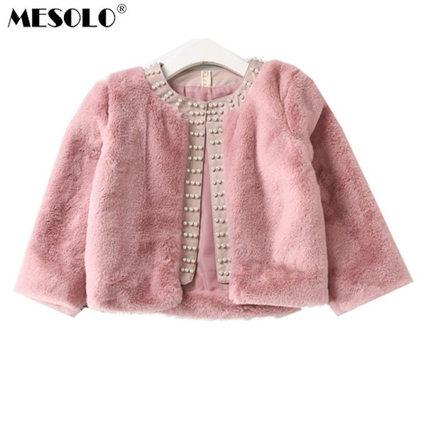 good quality Baby Girls Jacket 2019 New Winte Real Plush Faux Fur Cotton Thicker Long Sleeve Party Wedding Caot for Girls Kids Cloth