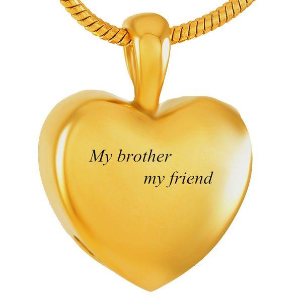 IJD9357 Gioielli in cremazione in acciaio inossidabile Collana con ciondolo a forma di cuore in oro Collana commemorativa Urne Regalo commemorativo per gioielli da donna
