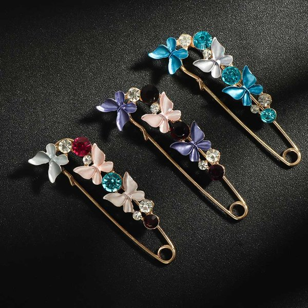Rhinestone Butterfly Brooch Lapel Pin For Elegant Women Banquet Party Home Brooches Pins Mother Gift
