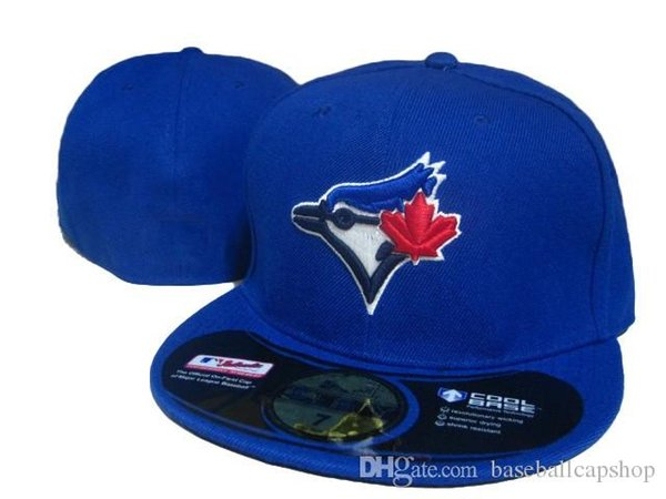 Classic Team Blue Color Hot Sale Toronto Fitted Hats Baseball Closed Caps For Men,Women Fashion Brands Canada Team Sport Men's Fitted H