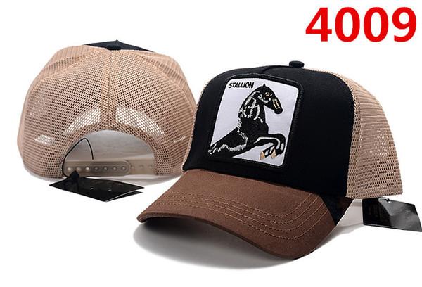 Casquettes design STALLION chapeaux Marque Silver Fox casquettes Solid Back Cap hommes femmes os snapback ROO réglable Casquette de golf casquette de baseball pour animaux