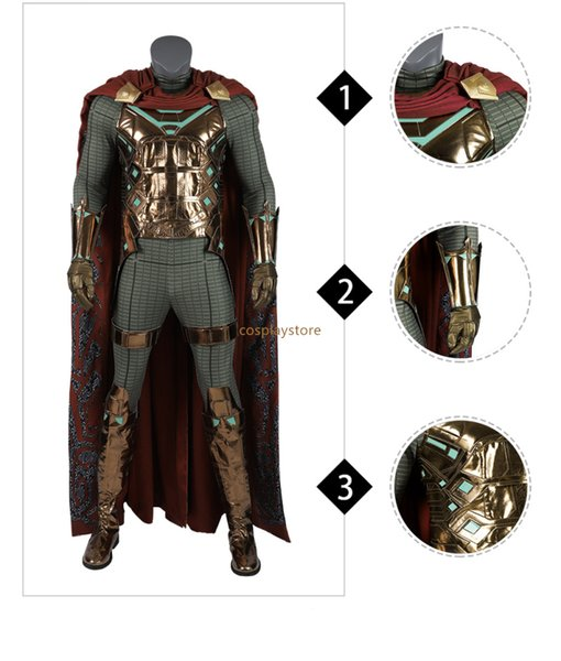 Far From Home SpiderMan Mysterio Cosplay Costume for Kids Man Halloween Cosplay Men's Superhero Sets Suit Anime Cloak Sets
