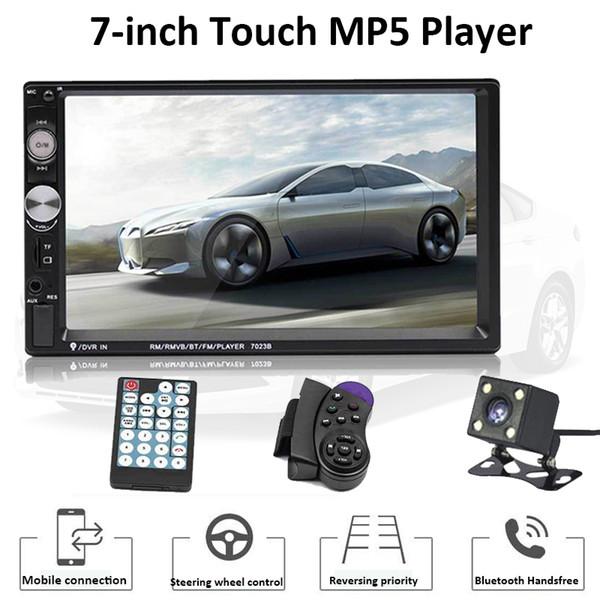 7023B 2 дин Full HD Автомобильный мультимедийный плеер Bluetooth Авторадио 7