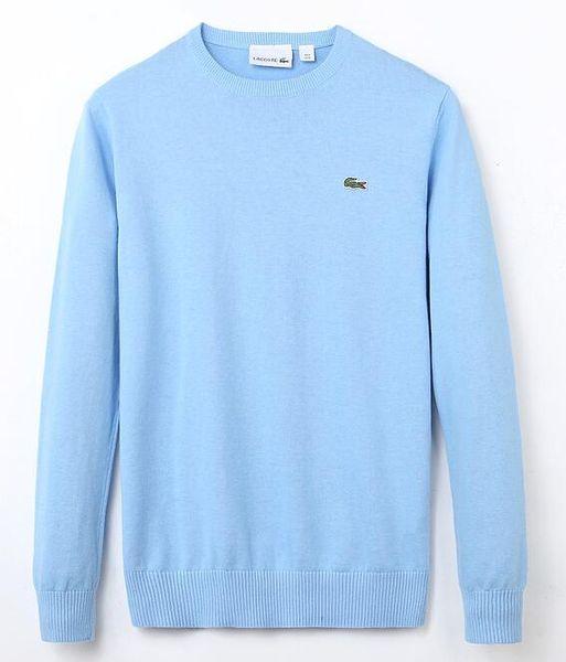 yiwuchaoren / O ENVIO GRATUITO de 2019 de Alta Qualidade dos homens Agulha Trançado Camisola De Malha De Algodão Em Torno Do Pescoço Camisola Pullover Sweater