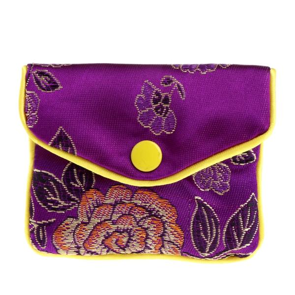 Sacos de armazenamento de jóias de seda chinês tradição bolsa bolsa presentes jóias organizador
