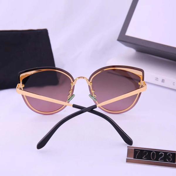 Yeni moda tasarımcısı güneş gözlüğü 72023 çift lens çerçevesi güneş ve popüler tarzı koruma
