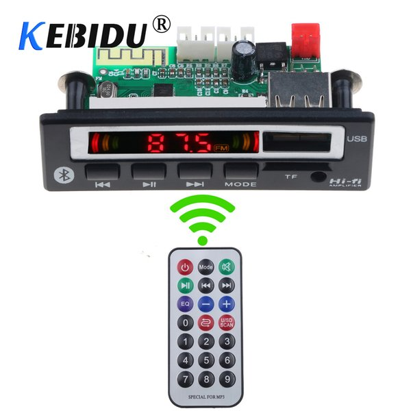 Kebidu Wireless Bluetooth 5V-12V MP3 WMA WAV Decoder Board Audio Module Music Speaker MP3 USB FM TF Radio Car accessories