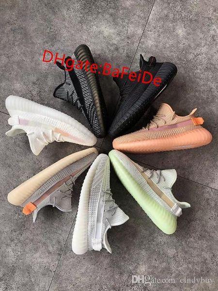 2019 Black Static Cream Sesame Kanye WestyeezyClay True Form Reflective Hyperspace 3M Gid Glow Wave Runner Running Shoes Sneakers