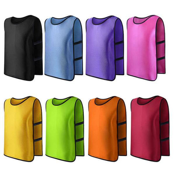 Equipa de futebol Futebol Adultos Formação pinnies Jerseys Jogada Vest Plus Size