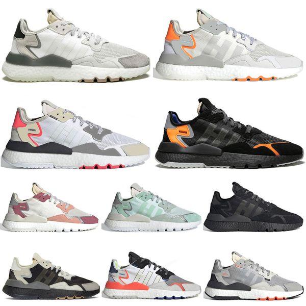 Discount Nite Jogger 3M Reflektierende Laufschuhe Beige Core Schwarz TRACE PINK Schuhe Weiß Damen Herren Trainer Sport Sneakers 36-45