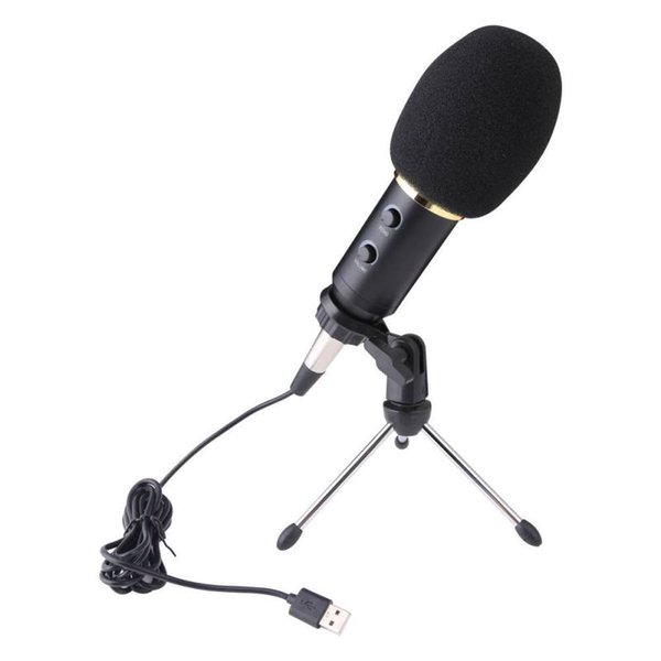 USB Microphone MK-F600TL Studio Karaoke Condenser Wired Microphone for Computer Video Recording Handheld With Tripod