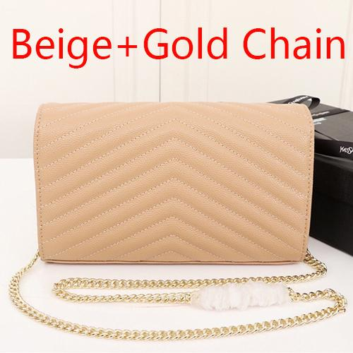 Beige+Gold Chain(come with Y_S_L)