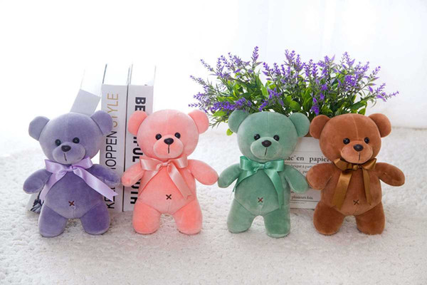 25 centímetros Dia Mini Atacado Material de urso de peluche pequenos Plush Toys Bichos de pelúcia Brinquedos de Pelúcia presentes dos Namorados Natal