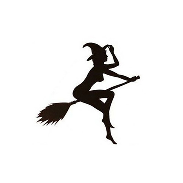Waterproof Sticker Car Styling Decal Sexy Witch Lady Girl Truck Vinyl Black Brief Literary And Artistic