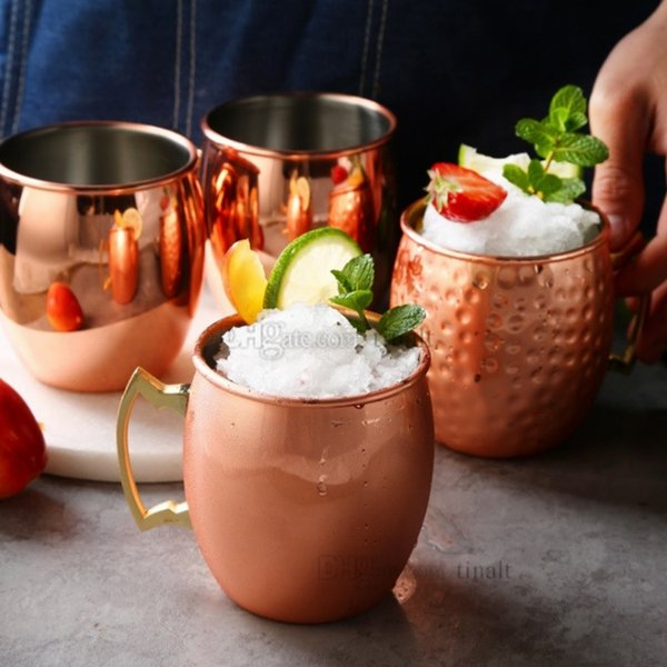 2style Moscow mule mug 550ml stainless steel hammer cup beer iced coffee tea hammer drum cocktail glass T2I5055