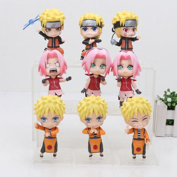 oys Hobbies Action Toy Figures 3pcs/set Naruto Shippuden Uzumaki Naruto Sakura Haruno Gaara Sasuke PVC Action Figures Toys Nendoroid Doll...