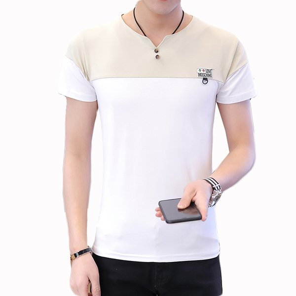 Hot Sale Cheap Round Collar Short Sleeve for Male Comfort Stitching O-Neck Tshirt Soft Slim Fit Men Summer T-Shirt M-3XL