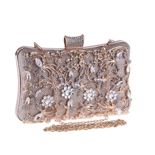 2019 mode Abend Handtasche Für Frauen Kette Handtasche Weibliche Elegante Designer Luxus Hochzeit Kupplungen Geldbörse Splitter Box Taschen
