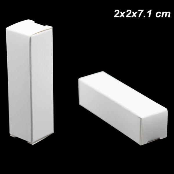 100pcs White 2X2X7.1cm Kraft Paper Handmade Paper Board Box for Lipstick small oil bottle Cardboard Crafts Gifts Lipstick Perfume Bottle Box