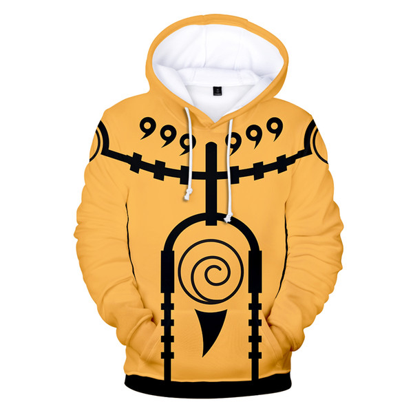 Vendita calda Naruto 3D Felpe Uomo Casual Autunno Donne Felpe con cappuccio Anime Naruto 3D Felpe con cappuccio Uomo Felpe Harajuku