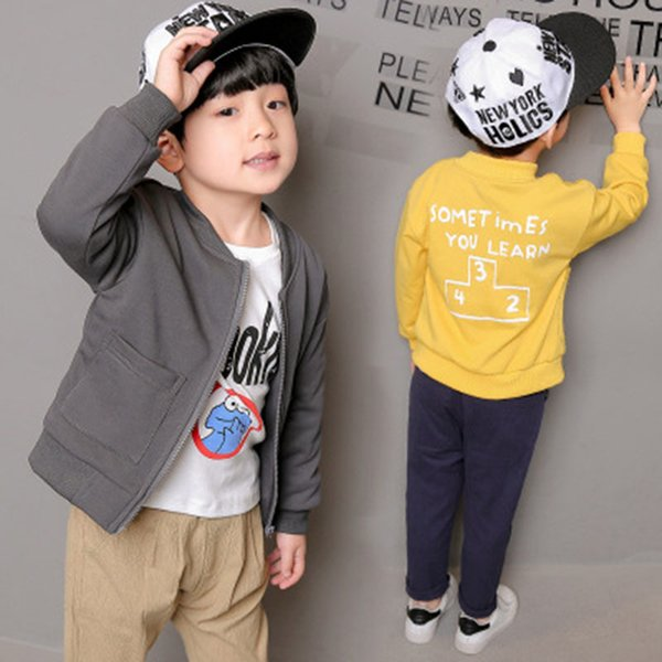 European Style Windbreaker Boys Jackets Boys Coats Spring Autumn Children Clothes Solid Fashion Kids Clothing New Baby Boy Coats
