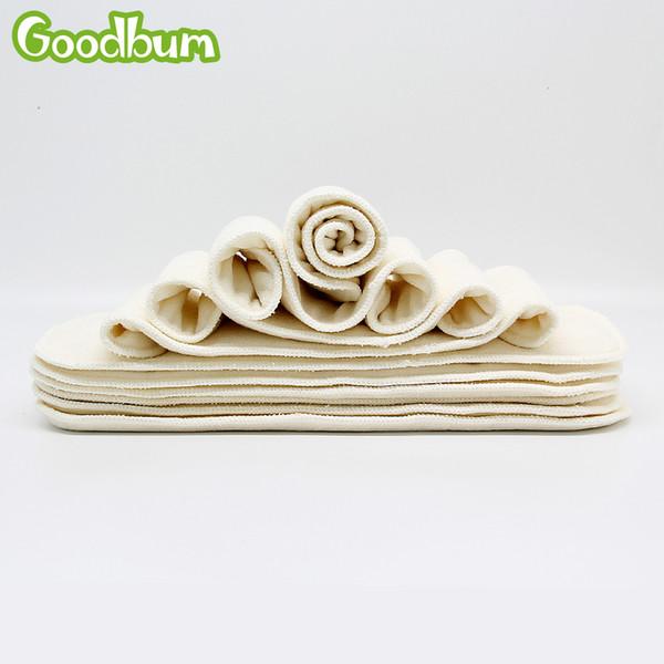 4 слоя бамбукового волокна пеленки вставить многоразовые супер мягкие детские подгузник вставка 35x13 см для ткани чехлы