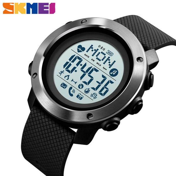 SKMEI Bluetooth Sport Smart Watches Men 5Bar Waterproof Digital Wristwatches Compass Heart Rate Pedometer Calories Male Clock