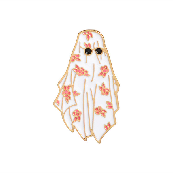 New Arrival Dubai Enamel Pin Arabian flower white robe sunglasses Brooch for Women Men Lapel pin bags badge Gifts