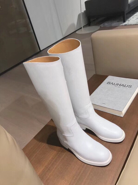 Luxury Designer Metallic Shark Lock Women Ankle Boots High-heeled Pumps Leather Short Booties Strap Wedges Shoes Large Size 35-41 yg19090502