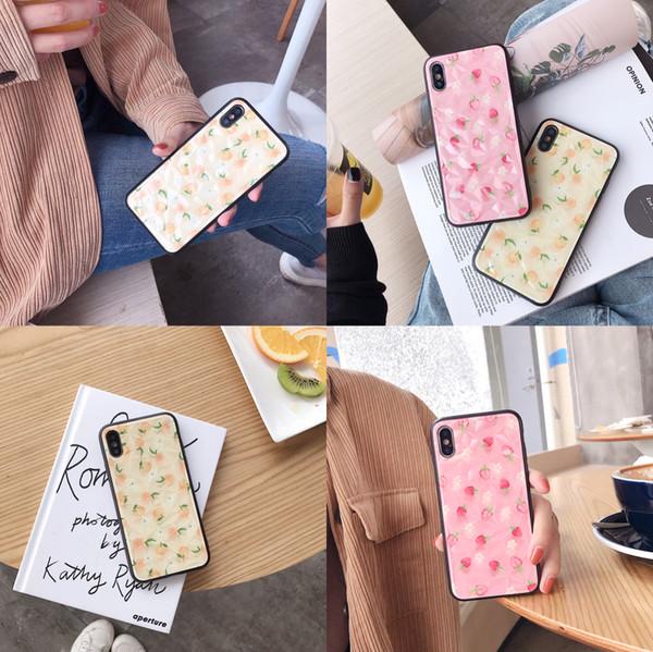 Slim Fruit Orange Diamond Design Case For iPhone XS X XS Max XR 8 8 Plus 7 7Plus 6 6S Plus