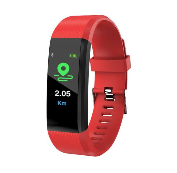 Plus color screen smart bracelet sports waterproof step counter Bluetooth synchronization with heart rate blood pressure