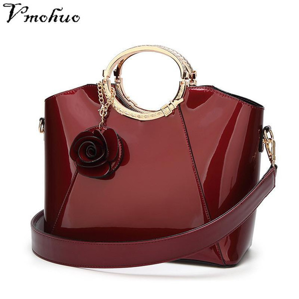 VMOHUO Patent Leather Tote Bag Handbags Women Famous Brands Ladys Lacquered Bag Red Handbag For Women Shoulder Sac A Main