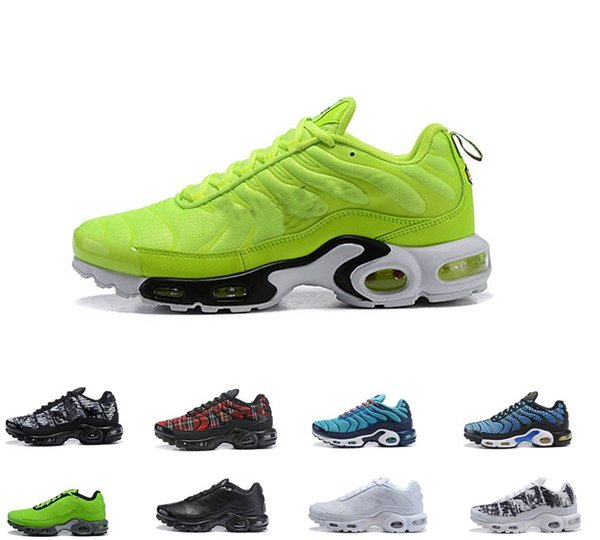 Compre Envío Gratis 2019 Nike AIR MAX PLUS TN Plus Tn Prm Men Zapatos Al Aire Libre Wmns Sports Running Shoes OG Negro Blanco Chaussures Para Mujer