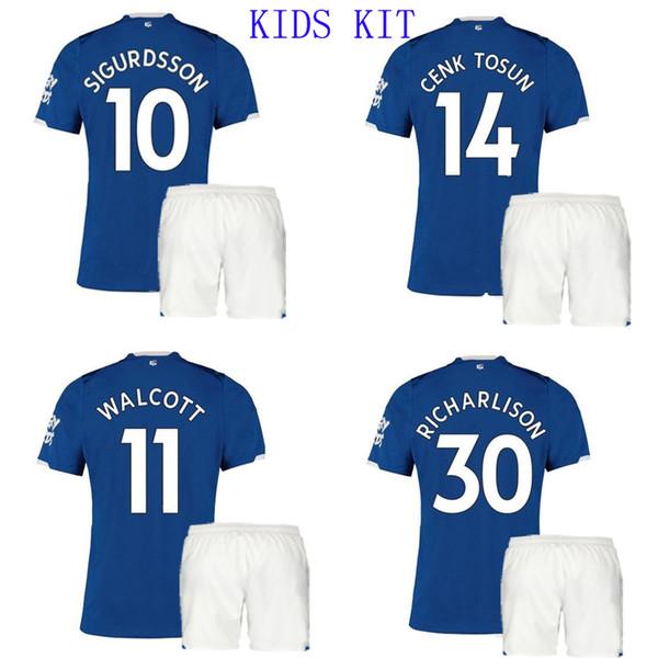 19 20 Maillots et maillots de football pour garçons par Everton pour enfants, maillot de football pour garçon