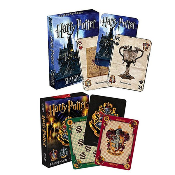 Magic fun poker Harry Potter playing game cards Hogwarts house collection badges symbols castle crests 2 Patterns Game of Thrones kids toys