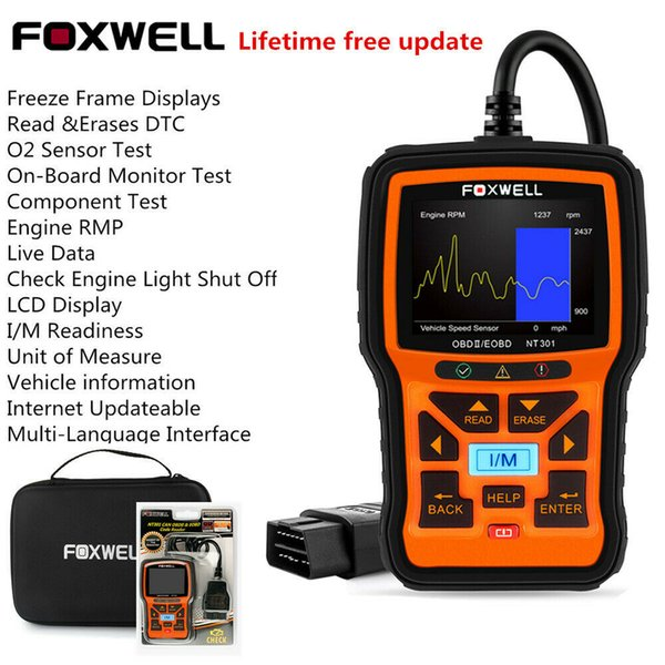 2019 Car OBD2 Scanner Code Reader Full Engine Check O2