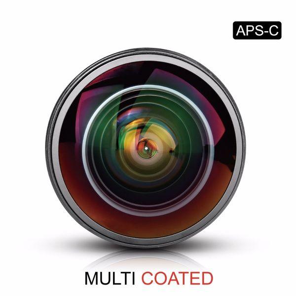 8 mm 1: 3,5 Ultra-Weitwinkel-Fisheye-Objektiv für alle Canon EOS EF-Mount-DSLR-Kameras mit APS-C / Vollbild + Gratis-Geschenk