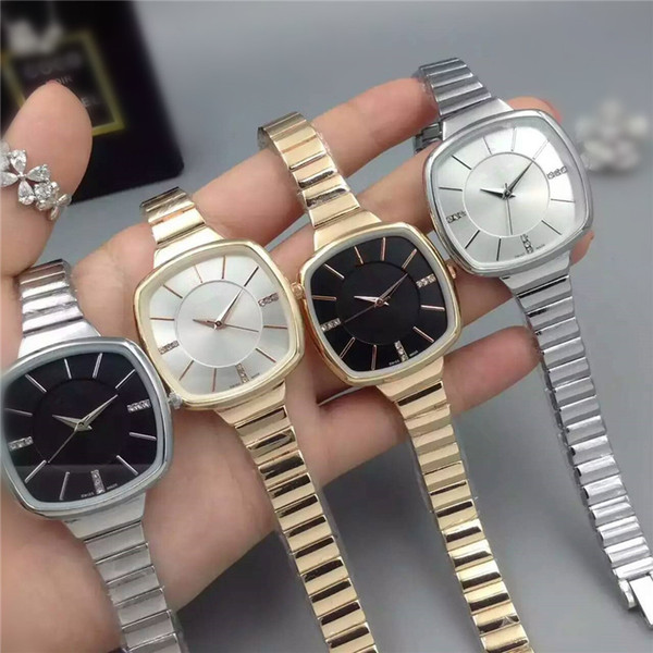 Women Watches Luxury Watch Brand Stainless Steel Bracelet Chain Tonneau Dial casual dress Wristwatch Business Gift For lover relojes clock
