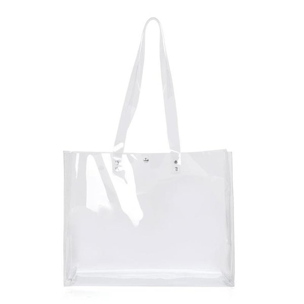 Women PVC Transparent Totes Handbags Clear Shoulder Shopping Beach Bags Female Top Handbag Bolsas Feminina Mujer Sac A