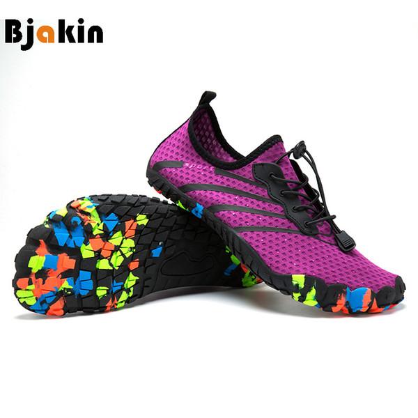 Minimalist Ayakkabı Beş Parmak Su Ayakkabı Renkli Yumuşak Sole erkek Yalınayak Çorap Sneakers Unisex Yüzme Plaj Memba ...