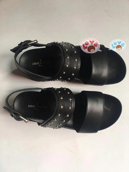 2019 Süper lüks kadın sandalet vintage deriden yapılmış kadın Kadın kutusu Ile MM13 ayakkabı