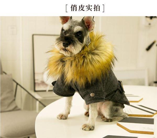 Atacado Casacos para cães de estimação Inverno Grosso Teddy Puppy Schnauzer Apparel Outwears de algodão acolchoado de lã Roupa para cães de pequeno porte S M L XL XXL