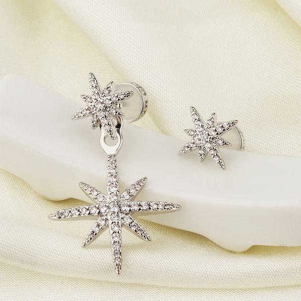 Marca Pendientes Meteor Joyas para Mujeres Chica Diseñador PM Incrustaciones de Diamantes Asimétricas Estrellas Pendientes Colgantes Gotas de Oreja Accesorios de Joyería