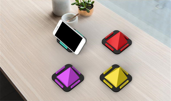 Silicone Cell Phone Stand Holder Desk Decoration Mobile Docking Cellphone Holder for iPhone 6 6s 7 8 Plus X Samsung S8 S9 LG Best Gift Ideas
