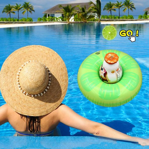 Float Flamingo Inflatable Drink Cup Holder for Swimming Pool Air Mattresses Pineapple Donut for Cup Kids Bath Toy Free Shipping
