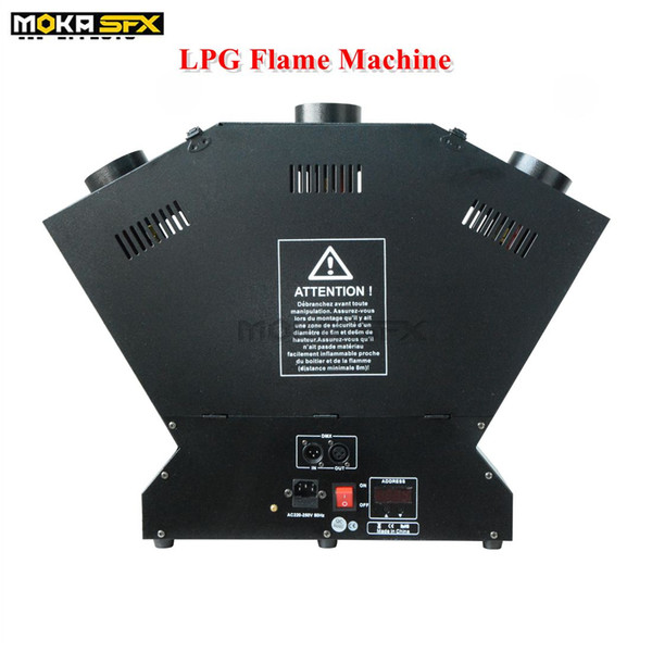 best selling 3-head LPG Flame Machine Strong Effect stage flame thrower DMX fire effect machine stage effects flame machine