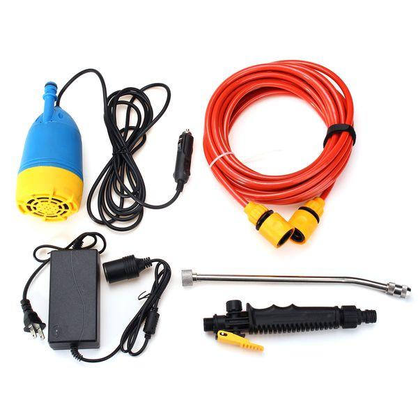 12V 80W High Pressure Car Washer Kit Water Wash Pump Car Campervan Sprayer Suit